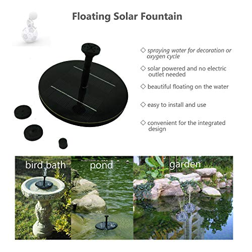 AIUSD Clearance , Solar Fountain Water Pump Panel Garden Pond Pool Submersible