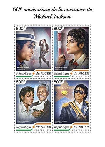 Niger - 2018 Singer Michael Jackson - 4 Stamp Sheet - NIG18406a