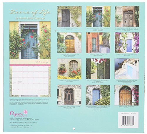 2016 Doors of Life 16 Month Wall Calendar