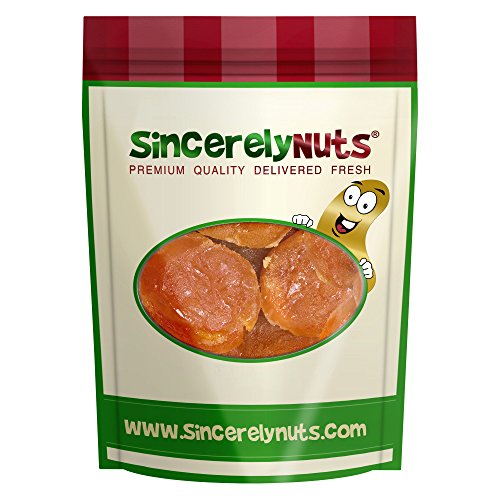 Sincerely Nuts Dried Apricots Glazed - One Lb. Bag - Incredibly Delish - Sealed for Freshness - Filled with Fiber & Antioxidants - Kosher (Australian Glazed Apricots)