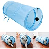 Innova® Pet Cat Kitten Puppy Pop Up Play Tunnel Includes 2 Suspended Ball Cat Pet
