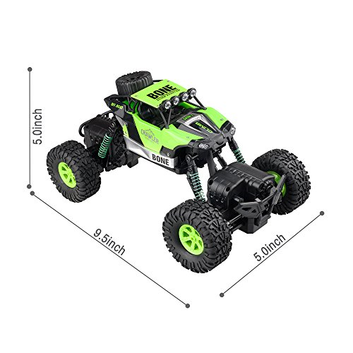 Gizmovine RC Rock Crawler Car 4WD 4 Modes Steering Waterproof 2.4Ghz Radio Control Toy Monster Truck Off Road (1/16 Scale)Green ZC0005-U2 Photo #6