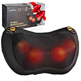 Zuzuro Shiatsu Pillow Massager with Heat - Electric Pillow Back & Neck Massager for Stress Relief & Ultimate Relaxation; Lower Back & Shoulder Massage Great gifts for men and women
