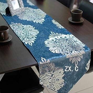 Los muebles suaves telas bandera Pack Table sobre la toalla Kim estropajos planchado manteles plata fábrica de estilo europeo ,2 m , con color champán: ...