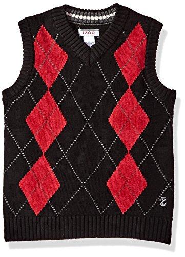 Izod Argyle Sweater - IZOD Little Boys' Argyle Vest, Black, 5