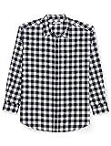 Amazon Essentials Men's Big & Tall Long-Sleeve Plaid Flannel Shirt, Black Buffalo, 5X Tall