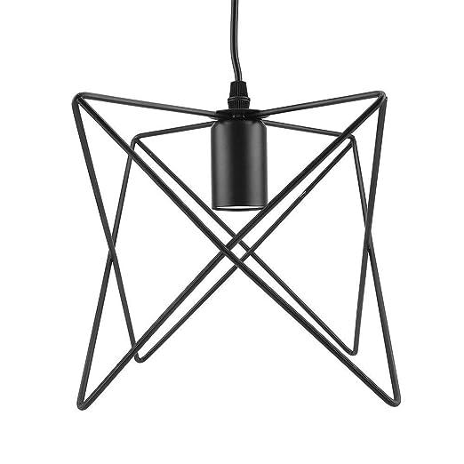 Riuty Lámpara Colgante E27 Lámpara de Techo Colgante con Forma de ...