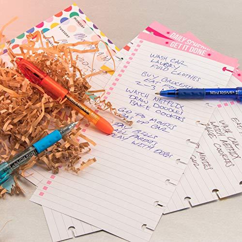 Pentel BK91MNP-P Pentel Mini R.S.V.P. Stick Ballpoint Pen, Translucent Brl, Pink Ink, Med Pt, Box of 12