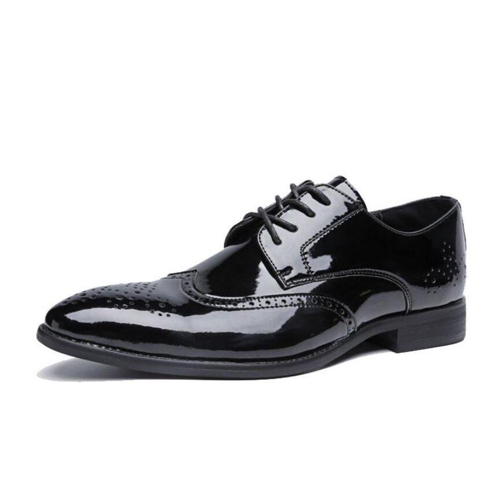 Männer Spitzen Business Casual Lederschuhe 2018 2018 Lederschuhe Frühjahr Herbst Winter Herren Büro Party Große Formale Schuhe Kleid Schuhe (Farbe   Schwarz, Größe   46) 2a0610