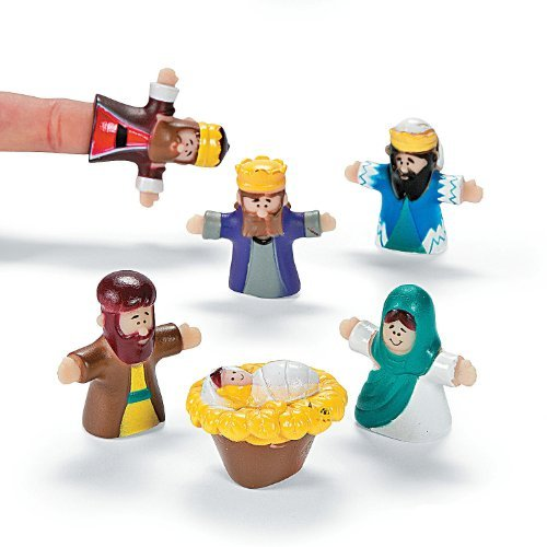 OTC 24 Vinyl Christ Nativity Finger Puppets Christmas Decor play toy