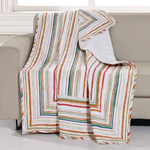 Greenland Home Sunset Stripe Throw Blanket 50x60-inch Cabana