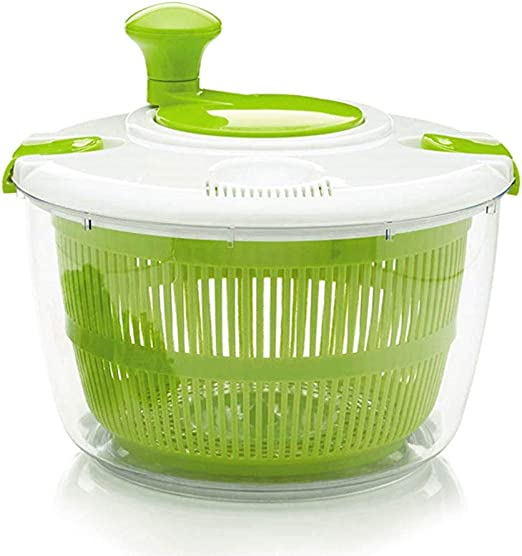 Image result for A salad spinner for washing and drying greens