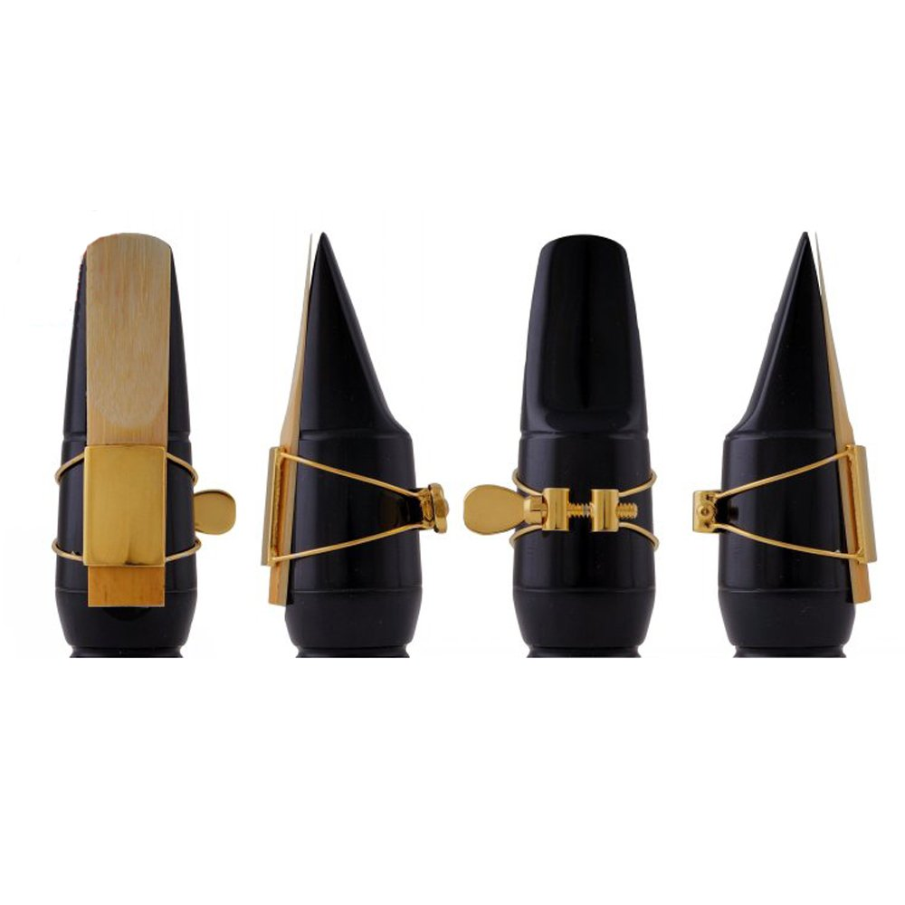 New Ligature for Wooden Plastic or Rubber Alto Saxophone Mouthpiece DHLink 1