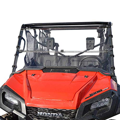 Clearly Tough Honda Pioneer 1000/1000-5 Windshield - Full Folding - Scratch Resistant - The Ultimate in Side by Side Versatility!Premium Polycarbonate w/Hard Coatmade in America!! (Best Windshield For Honda Pioneer 1000)