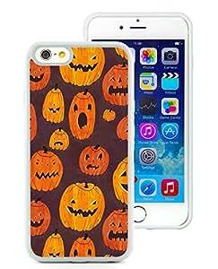 Customized iPhone 6 Case,Halloween Pumpkins Pattern White iPhone 6 4.7 Inch TPU Case 1