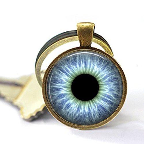 - Blue Human Eye Keychain - Eyeball Keychain - Blue Eye Keychain - Eyeball Jewelry - Blue Keychain - Third Eye - 3rd Eye Jewelry