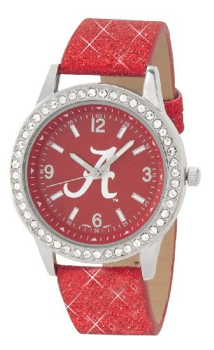 ALABAMA CRIMSON TIDE GLITTER WATCH-UNIVERSITY OF ALABAMA LADIES GLITTER WATCH Alabama Crimson Tide Ladies Watch