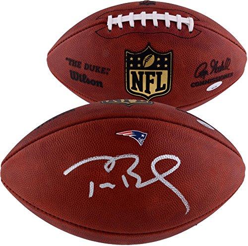 Tom Brady New England Patriots Autographed Duke Decal With Patriots Logo Football - TRISTAR - Fanatics Authentic Certified -