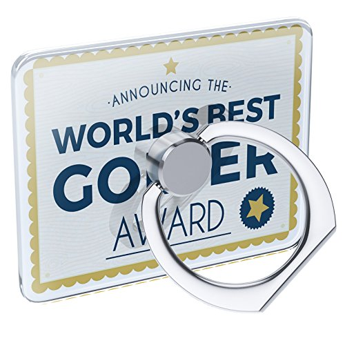 (Cell Phone Ring Holder Worlds Best Golfer Certificate Award Collapsible Grip & Stand Neonblond )