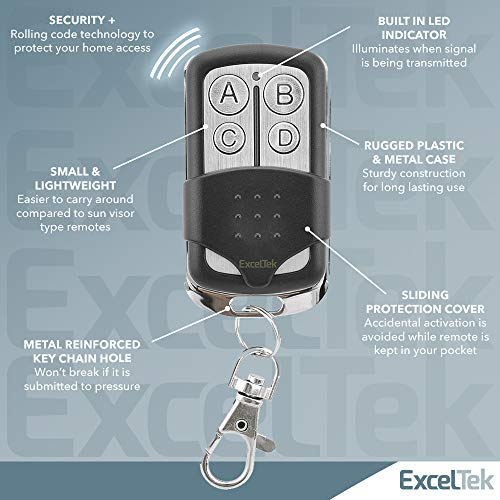 Exceltek 893lm Compatible Garage Door Remote Control With Yellow Learn Button Liftmaster Chamberlain Craftsman 891lm 950estd 953estd Myq 2 Pack 893lm Keychain Pricepulse