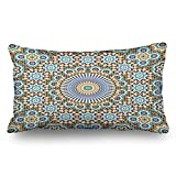 Custom Throw Pillow Covers Morocco Seamless Traditional Arabic Islamic Textures Design Decor Pillowcases 20x36 Inches Rectangular Decorative Cushion Cases