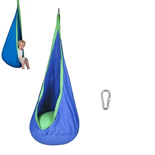Childrens Rocking Hammock Hanging Chair   Child Kids Pod Swing Chair Tent  For Indoor Outdoor Hanging