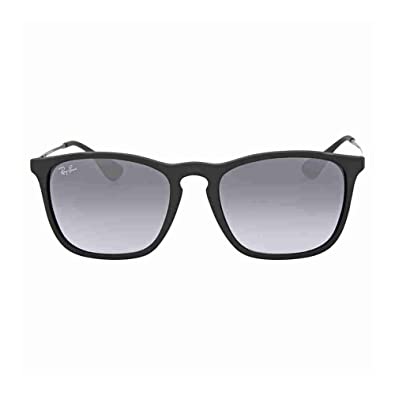 Amazon.com: Ray-Ban Chris RB 4187 Sunglasses Rubber Black / Grey ...