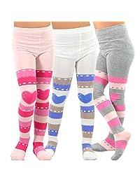 TeeHee (Naartjie) Kids Girls Fashion Cotton Tights 3-Pair Pack