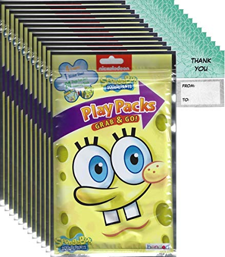 (Sponge Bob Squarepants Grab n Go Play Packs (12 Pack) Party Favors and 12