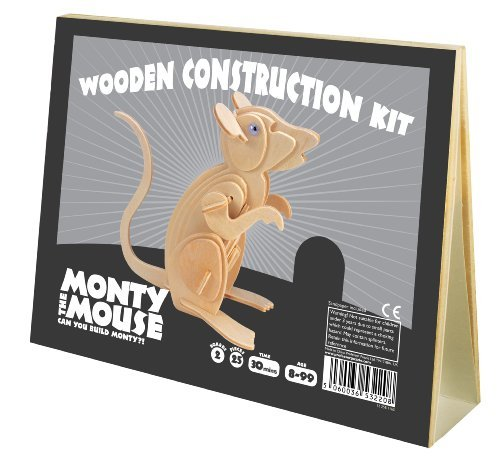 Animal Construction Kits Monty The Mouse by Professor Puzzle - UK
