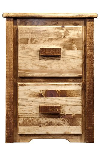 Montana Wood Cabinet - Montana Woodworks MWHCFC2SL Homestead Collection 2-Drawer File Cabinet, Stain & Lacquer Finish