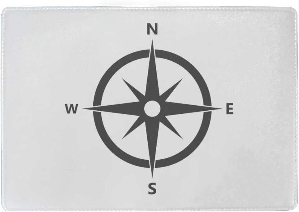 Waterproof Passport Case An Antique Compass Rose Hand-drawn Stylish Pu Leather Travel Accessories Card Passport Cover For Women Men