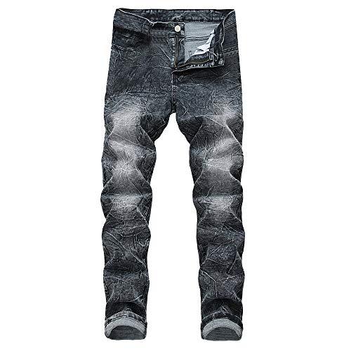 Hombre Invierno Otoño Hombres Denim Rasgado Recto Casual Vaqueros Leggings Familizo Algodón De Gris Pantalones PqU7wFwxg