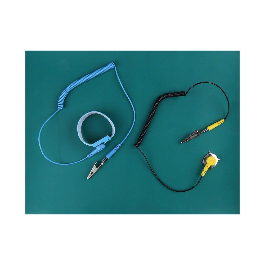 Kit de Ré paration Antistatique, Asixx Tapis et Bracelet Antistatique avec Fil de Terre pour la Ré paration de Té lé phone Asixx Tapis et Bracelet Antistatique avec Fil de Terre pour la Réparation de Téléphone