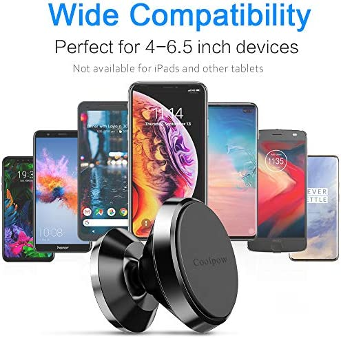 [ 2 Pack ] Magnetic Phone Mount, [ Super Strong Magnet ] [ with 4 Metal Plate ] car Magnetic Phone Holder, [ 360° Rotation ] Universal Dashboard car Mount Fits iPhone Samsung etc Most Smartphones 51qauNnQgYL