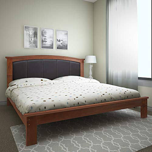 @home by Nilkamal Morgan Queen Size Bed Without Storage  Cherry
