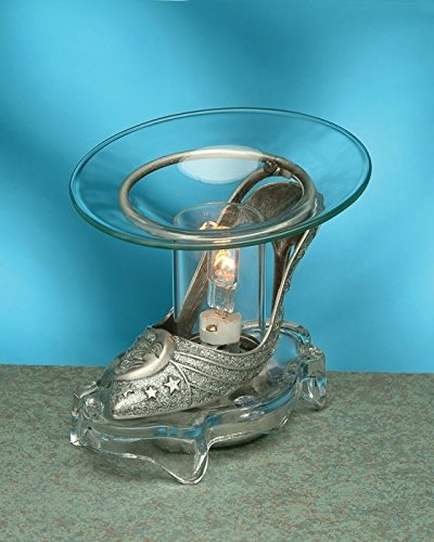 Pewter Shoe with Silver Moon Electric Oil Aromatherapy Burner