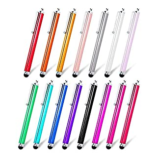 Briout Stylus Pen Set of 22 Pack for Universal Touch Screens Devices, Capacitive Stylus for iPad, iPhone, Samsung, Kindle, Tablet (13 Multicolor)