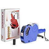 Metronic MX5500 EOS 8 Digits Price Tag Gun Labeler Labeller Included Labels and Ink Refill for Office, Retail Shop, Grocery Store,Super Market(Blue)