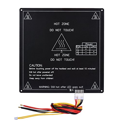 - BIQU Aluminum MK3 12V Heatbed Platform 220x220x3mm PCB Hot Plate with Cable Line for Reprap 3D Printer