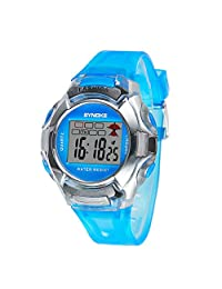 Water-proof Multi Function Digital Outdoor Kids Sport Watches For 5-10 Years Old Boys Girls Blue