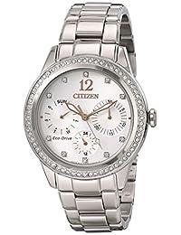 Citizen Women's FD2010-58A Silhouette Crystal Analog Display Japanese Quartz Silver Watch