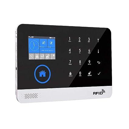 jinclonder Alarma de Seguridad gsm WiFi para el hogar y los Negocios, Kits de Bricolaje con Sistema de Seguridad Inteligente, Alarma antirrobo ...