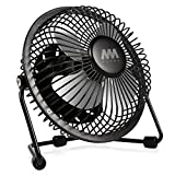 Mini Fan, Mumba 4-Inch High Velocity Desktop Fan, USB Powered, Super Mute, 180 Degree Free Angle Rotatable Laptop Fan, Small Mental Cooling Fan (Black)