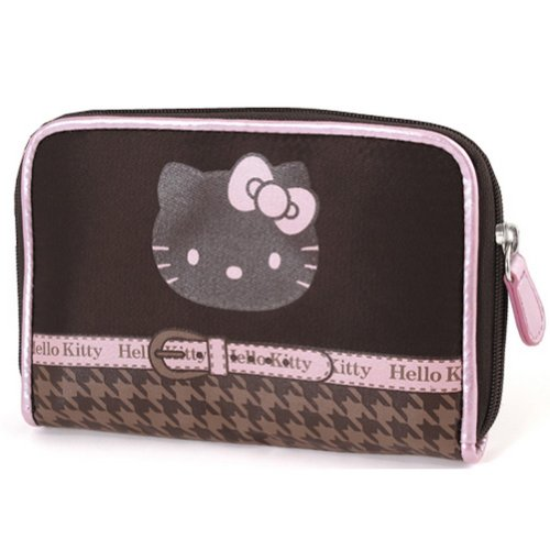 Hello Kitty Hello wallet Camomilla Kitty Houndstooth chocolate by qEBw5HdS
