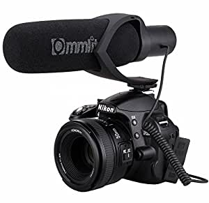 Comica CVM-V30 Video Microphone Super-Cardioid Directional Condenser Photography Interview Lightweight Shotgun Camera Microphone for Nikon,Canon and DSLR Cameras(AAA battery included) (Black)