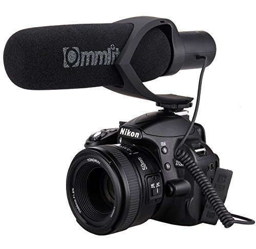 Comica CVM-V30 Shotgun Camera Microphone Super-Cardioid Directional Condenser Photography Interview Lightweight Video Microphone for Nikon DSLR and Fit 3.5mm Port Canon Cameras(Black) (Canon Microphone T2i)