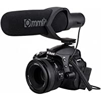 Comica CVM-V30 Shotgun Camera Microphone Super-Cardioid Directional Condenser Photography Interview Lightweight Video Microphone for Nikon DSLR and Fit 3.5mm Port Canon Cameras(Black)