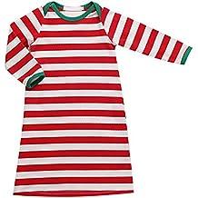 puseky Baby Boys Girls Red&White Striped Pajamas Sleepwear Dressing Gown Robe
