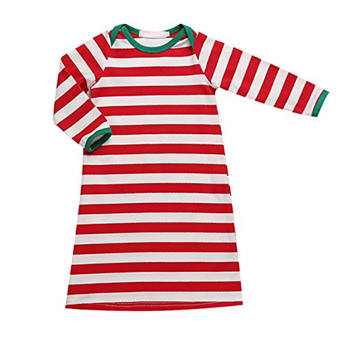 baby-boy-girl-red-white-stripe-night-gown-sleepwear-pajamas-sleeping-bag-0-6m